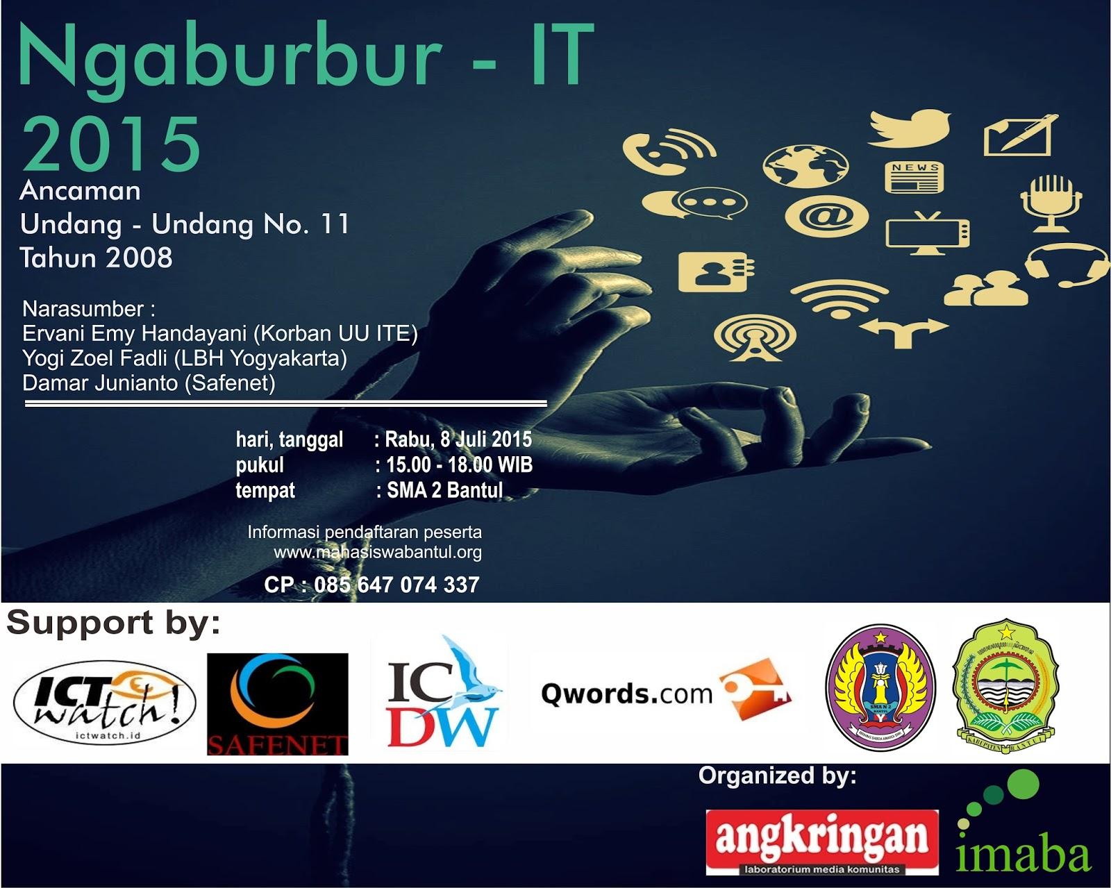 Imaba,Ikatan Mahasiswa Bantul, Bantul, Projotamansari, NgabuburIT-NgabuburIT2015, Projotamansari, seminar it, seminar, uu ite, #Imaba, #Bantul
