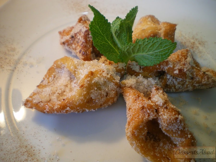 Pestiños con azúcar y canela