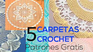 5 patrones de carpetas redondas tejidas a crochet