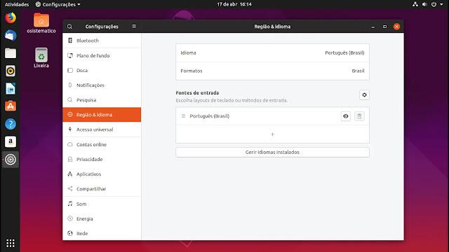 idiomas-canonical-lançamento-linux-ubuntu-disco-dingo-1904-19-04-gnome-shell-yaru-tema