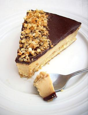 Tarte Sablée aux Cacahuètes, Crème Caramel & Miroir Cacao