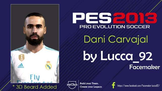 Dani Carvajal Face PES 2013