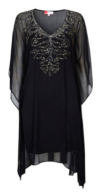 Wallis Black Embellished V Neck Kaftan