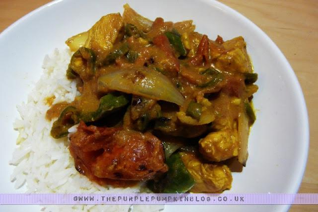 Chicken Jalfrezi - Low calorie - under 300 calories per portion