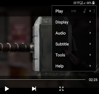 Subtitles option in MX Player