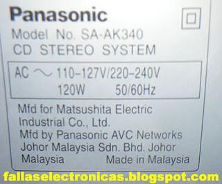 Panasonic codigo f61