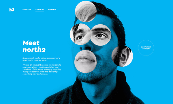 Trend and Inspiration Web Design 2018 - north2