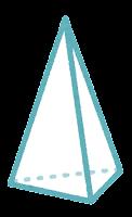 立体のイラスト(三角錐)