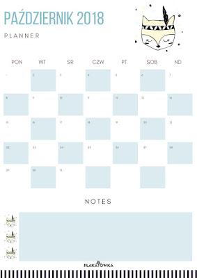 planner tygodniowy i miesięczny do druku