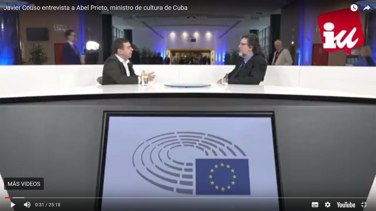 Javier Couso entrevista a Abel Prieto, ministro de cultura de Cuba