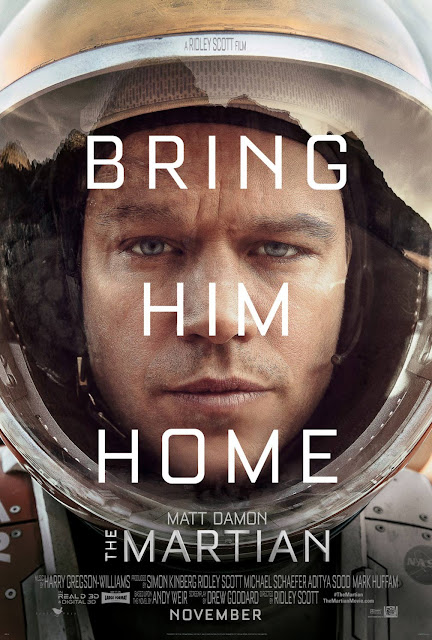 The Martian, movie poster, Directed by Ridley Scott, starring Matt Damon