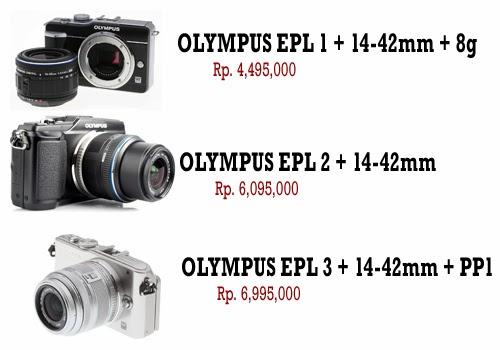 Brosur Daftar Harga Kamera DSLR Olympus Terbaru 2014