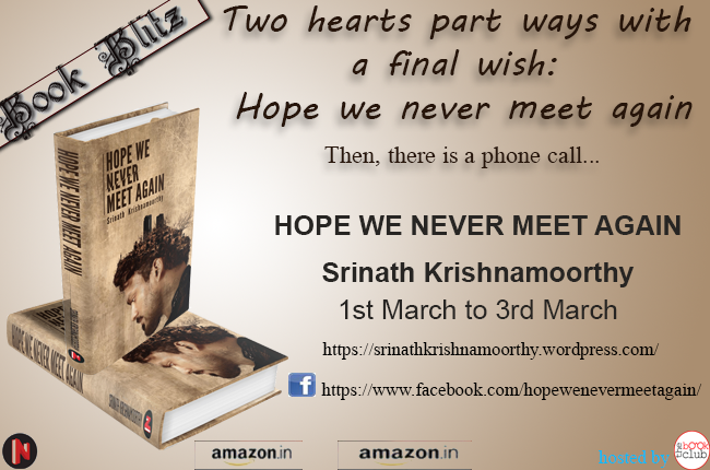Book Blitz: Hope We Never Meet Again by Srinath Krishnamoorthy