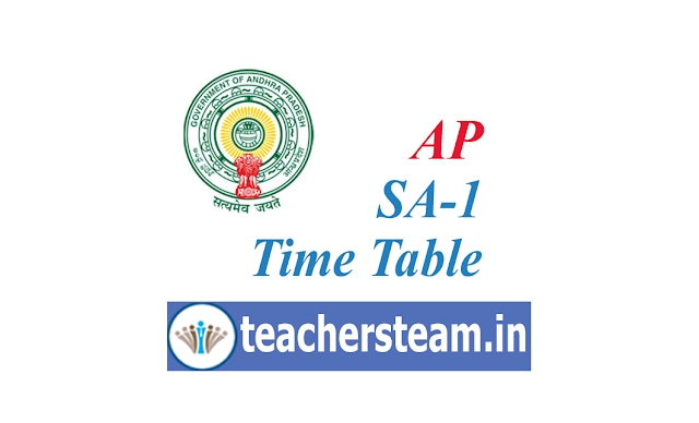 AP SA-1 Time Table