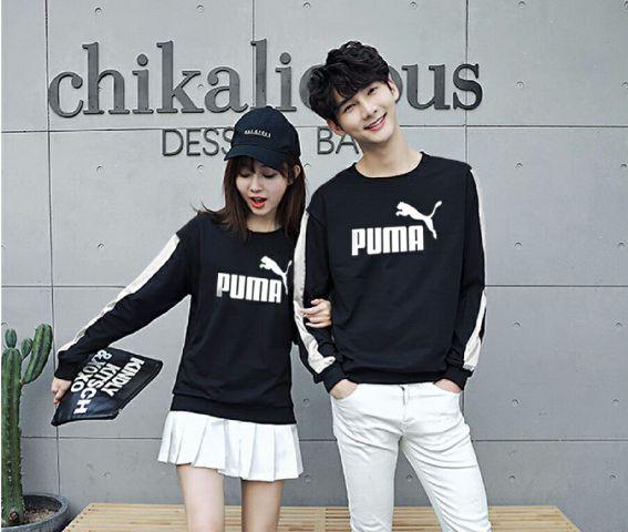 Jual Online Sweater Puma Stripe Black Murah Jakarta Bahan Babytery Terbaru