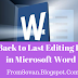 Go Back to Last Editing Point in Microsoft Word