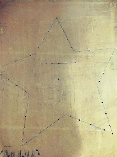 A star with circles on the board