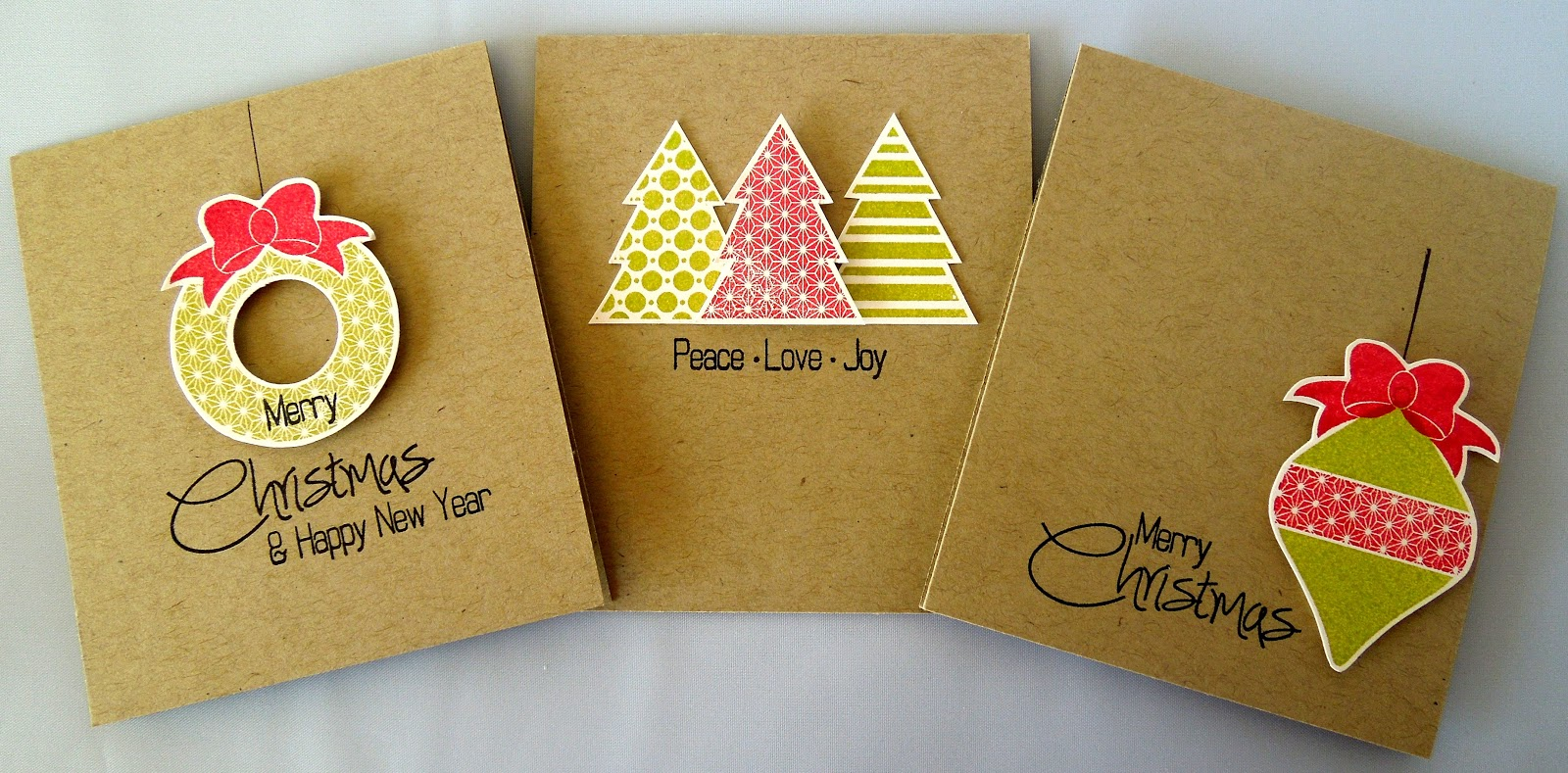 stamping  sharing quick  simple christmas cards