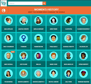 Womens' History Month Activities- BrainPop Jr. videos- reading and writing activities with social studies integration