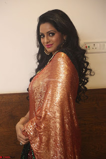 Udaya Bhanu lookssizzling in a Saree Choli at Gautam Nanda music launchi ~ Exclusive Celebrities Galleries 132.JPG