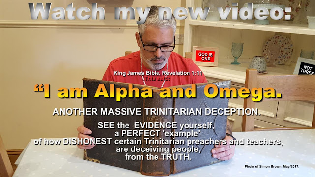 Watch my new video: The Alpha and the Omega, in Revelation 1:11. ANOTHER MASSIVE TRINITARIAN DECEPTION.