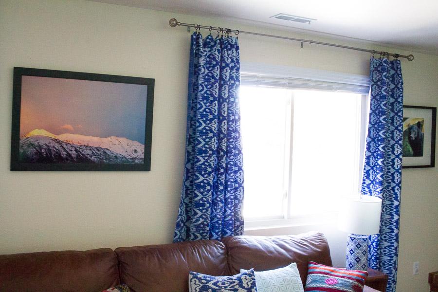 kantha quilt curtains DIY