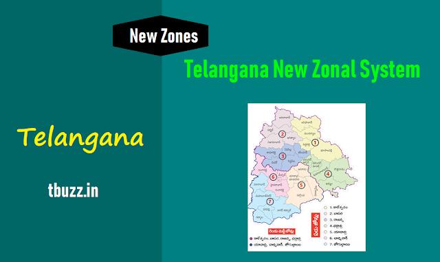 తెలంగాణ కొత్త జోనల్ విధానం - జోన్ల వ్యవస్థ - బహుళజోన్ల పరిధి,telangana has 7 zones and two multi zones,telangana new zonal system