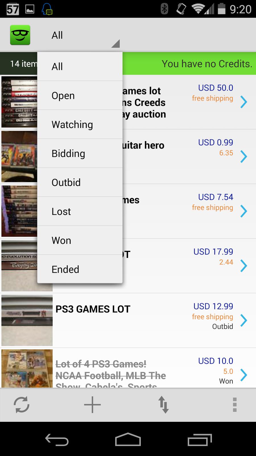 Joybidder Ebay Auction Sniper Joybidder Ebay Auction Sniper App For Android Dev Version Screen Shots