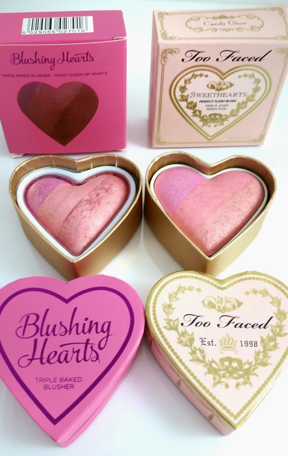 Makeup Revolution I Heart Makeup Blushing Hearts Swatches