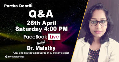 Partha Dental Facebook live with Dr.Malathy