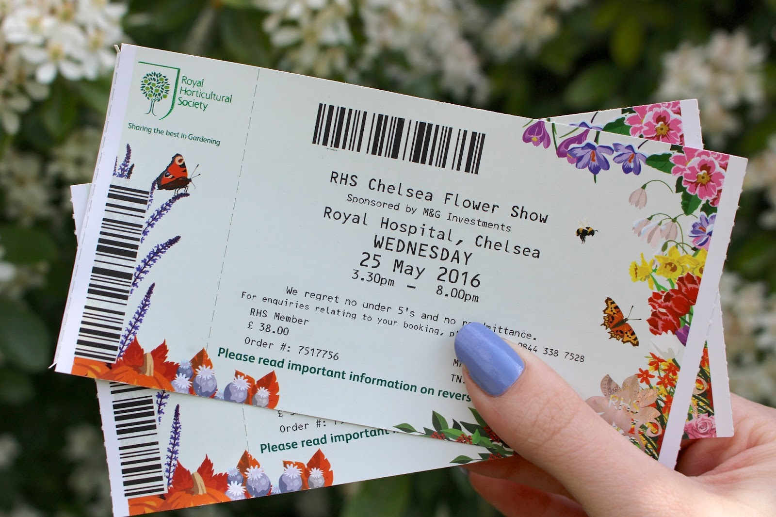 RHS Chelsea Flower Show tickets 2016