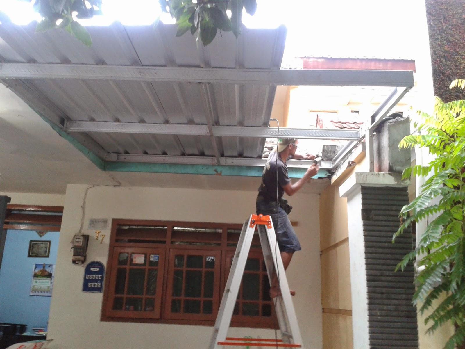 awning dari baja ringan specialis canopy untuk car port ruang jemuran
