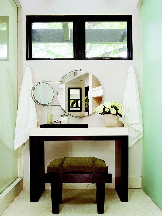 New Home Interior Design: Bathroom Makeup Vanity Ideas