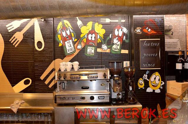 Murales pintados para restaurantes