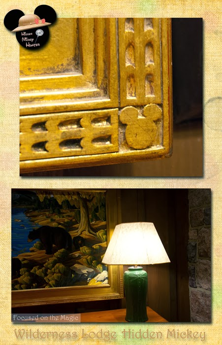 Hidden Mickey Picture Frame at The Villas at Disney's Wilderness Lodge.