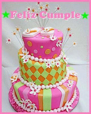 tarta de cumpleaños rosa