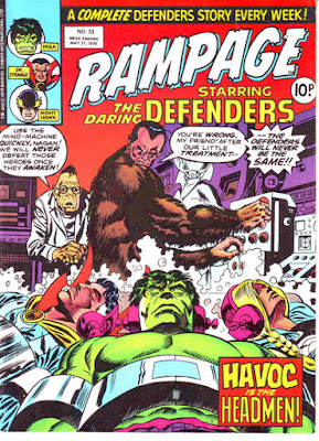 Rampage #33, Defenders vs the Headmen