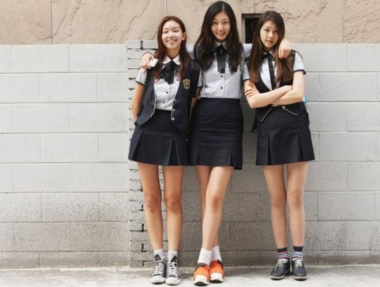 Korean Girl School Uniform