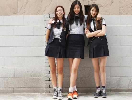 Korean Girl School Uniform