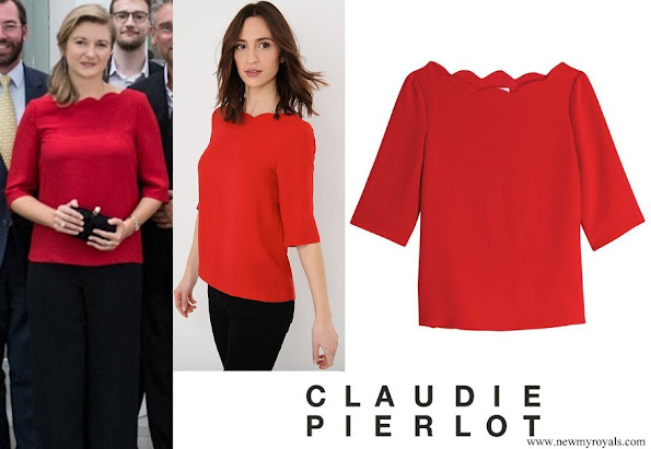 Princess Stephanie wore CLAUDIE PIERLOT Bexley Crepe Top