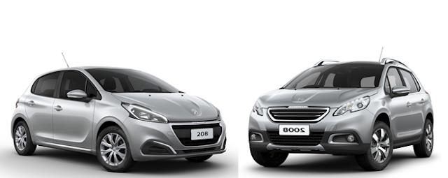 Peugeot 208 e 2008 têm taxa zero até dia 31 de janeiro
