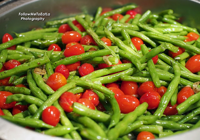Sauteed French Beans With Garlic & Cherry Tomatoes