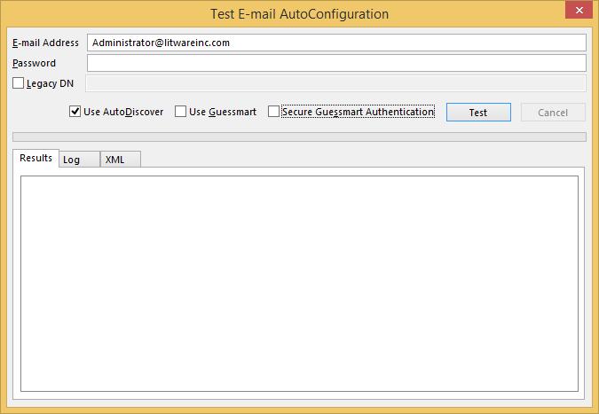 Technical Deep Dive: Outlook - Test Autodiscover