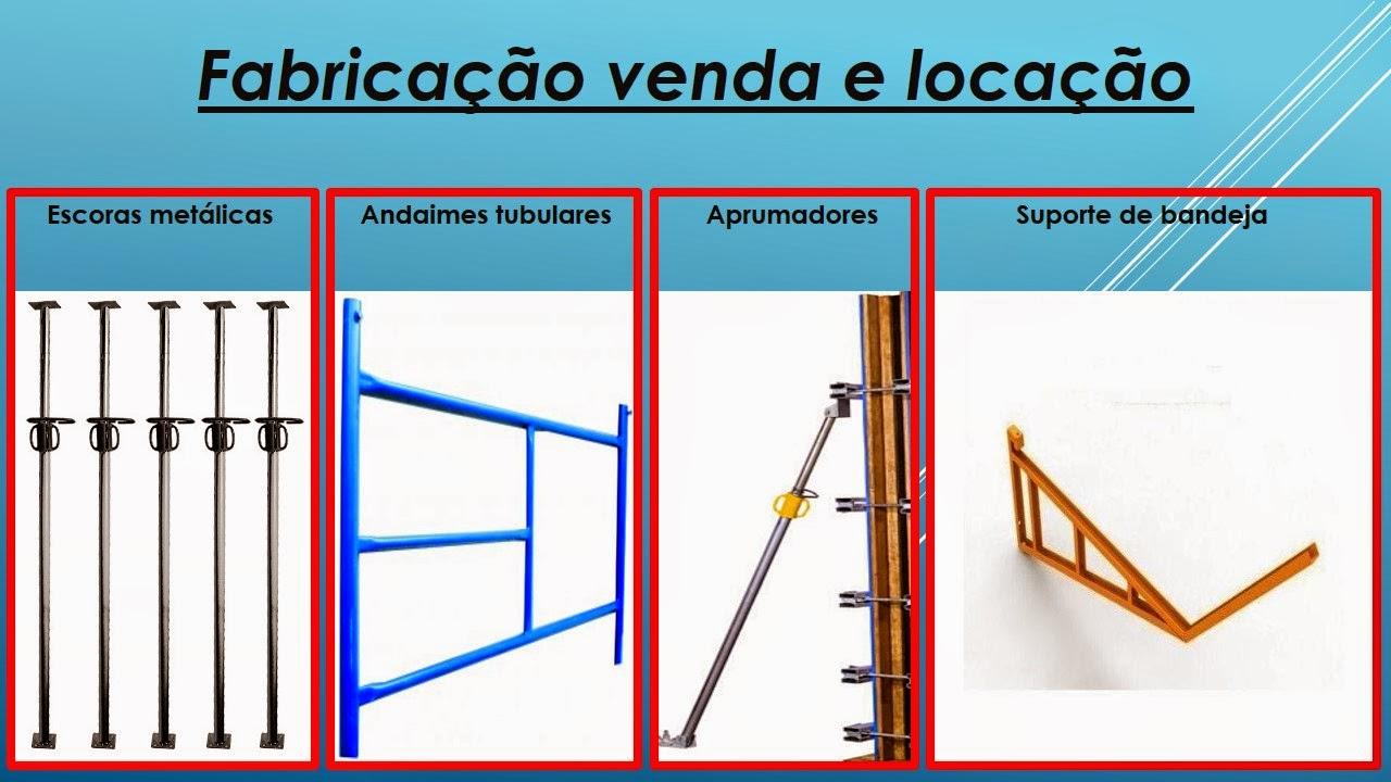 Construmaq Andaimes  Andaimes, escoras metalicas, aprumadores e ... 8e56700d77