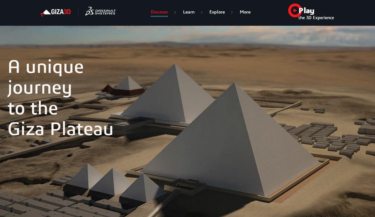 Giza 3D - great, interactive 3D recreation of the Great