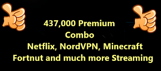 437k Premium Combo (Netflix, NordVPN, Minecraft , Fortnut and much more Streaming+Gaming)