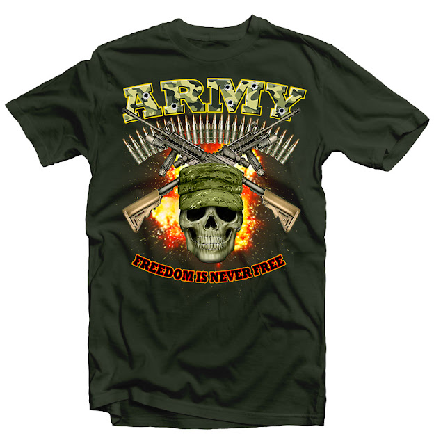 military  tshirt design