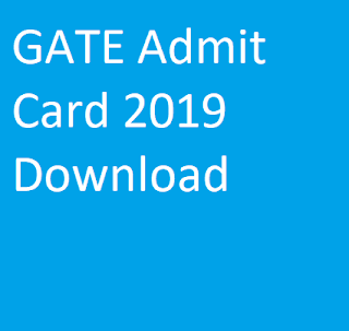 GATE Admit Card 2019 Download