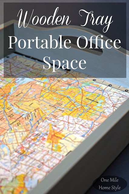 Wooden Tray Portable Office Space Create and Share | One Mile Home Style