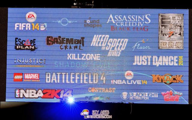 23 new games launched together with PlayStation 4: Assasin's Creed IV Black Flag, Battlefield 4, FIFA14, LEGO MARVEL, Need for Speed Rivals and many more